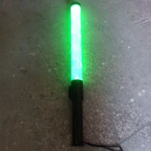 Flurescent Yellow Green Traffic Baton LED Light Torch pictures & photos