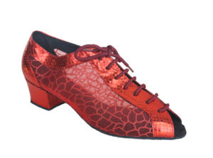 Women′s Red Open Toes Cha-Cha/Salsa Dance Practice Shoes pictures & photos