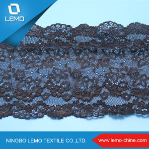 Black Wide Good Quality Tricot Lace pictures & photos