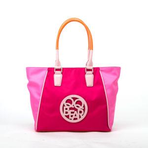 2015 Trendy Contrast Designer Nylon Leisure Ladies Tote Handbag (QF-15044C)
