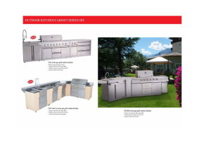 Outdoor Kitchen /Cabinet Series DIY Gas BBQ Grill pictures & photos