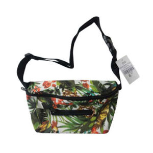 Printed Canvas Fanny Pack with Zipper