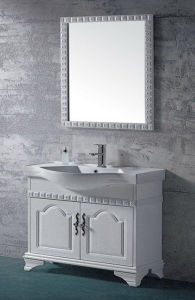 Luxury Solid Wood Oak Bathroom Vanity (ADS-650) pictures & photos