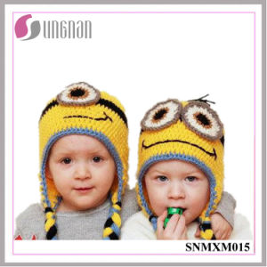 Winter Creative Minions Hand-Knit Wool Hat Children Ear Hat pictures & photos
