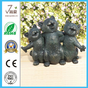 Metal Cats Sculpture Iron Cast Garden Figurine pictures & photos