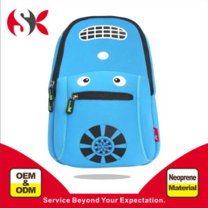 2016 New Cute Racing Cars Kids Child Children School Backpack in Blue Color with Neoprene Material Ultralight Waterproof