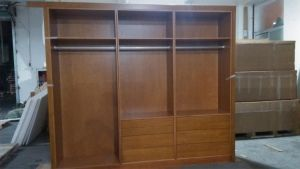 Birch Solid Wood Lacqure Wardrobe Cabinets Wd021 pictures & photos
