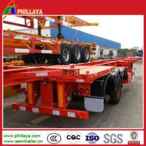 3 Axle 40-60ton 40FT- 20FT Truck Skeleton Container Semi Trailer pictures & photos