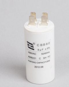 Metallized Polypropylene Film AC Electronic Capacitor Cbb60 pictures & photos