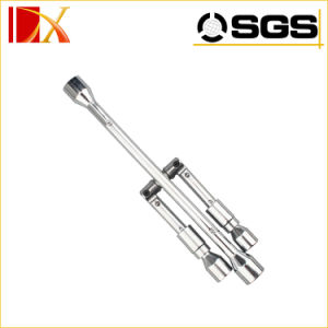 Automobile Tire Wrench, Multi-Purpose Function Folding Cross Sleeve Wrench