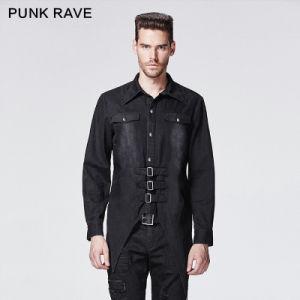 Punk Rave Brand Gothic Cotton Men′s Bats Shirts (Y-602/BK) pictures & photos