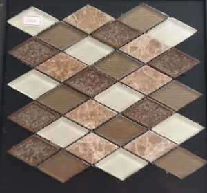 Rhombus Brown White Mixed Color Mosaic Glass Tile pictures & photos
