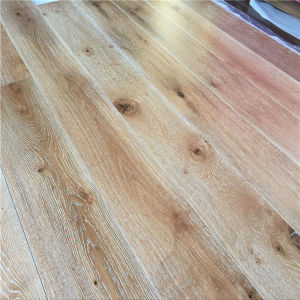 Factory Made Wide Plank White Brushed Multilayer Oak Wood Floors