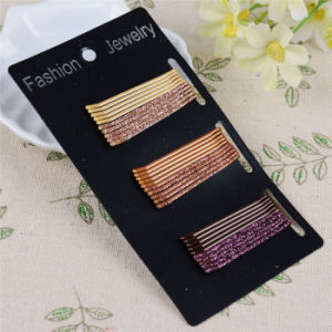 30 Pieces Card Packed 5cm Glittery Metal Hair Pins (JE1028) pictures & photos