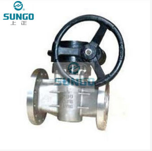 Flange Lubricated Gear Plug Valve pictures & photos