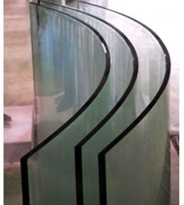 Bent/Curved Clear Toughened Glass for Furniture Door