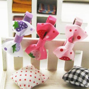 Customized Cheap Bowknot Hair Pins pictures & photos