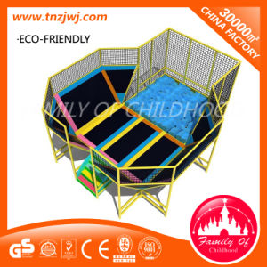 Customized Indoor Trampoline Park Safest Big Trampolines with Soft Play pictures & photos