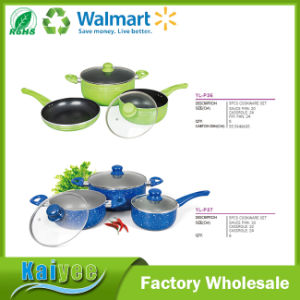9 Piece Stainless Steel or Aluminum Nonstick Cookware Set pictures & photos