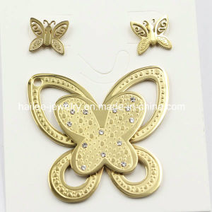 Top Selling Fashion Stainless Steel Butterfly Set Jewelry pictures & photos