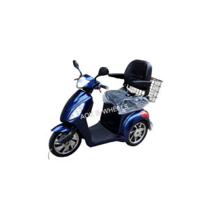 Hot 500W/800W Disabled Electric Mobility Scooter with Deluxed Saddle pictures & photos