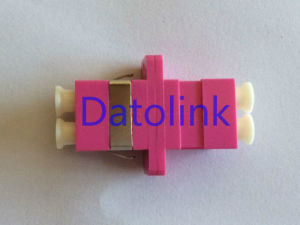 Voilet LC mm Duplex Fiber Optical Adapter pictures & photos