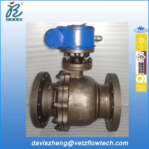 8 in Class300 RF Wcb Soft Seated Gear Box Operated Floating Ball Valves as Per API 608