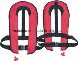 150n Single Air Chamber Automatic Inflatable Life Jacket pictures & photos