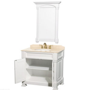 "Premiere 36"" Solid Wood Bathroom Vanity Set - White pictures & photos"