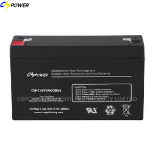AGM Lead Acid Battery 6V VRLA Battery 6V 8ah CS6-8d pictures & photos