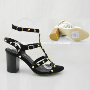 New Style Fashion Rivet Lady High Heels Shoes Sandals pictures & photos