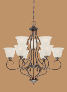 Hot Sale Chandelier with Glass Shade (1529RBZ)