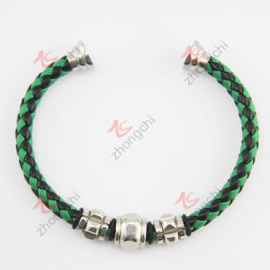 Fashion Jewelry Braided Leather Magenet Clasp Bangle (LB) pictures & photos