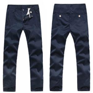 Men′s Leisure Chino Flat-Front Straight-Leg Pants
