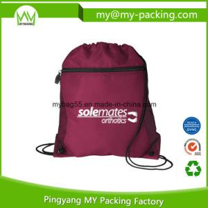 Experienced Factory Front Pocket Drawstring Bag pictures & photos