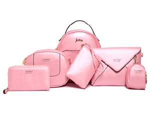 Classics Simple Fashion Handbag 6PCS Set Bag Leather Designer Handbag (XM0261) pictures & photos