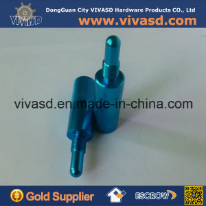 CNC Machining Blue Anodizing Motorcycle Parts Piston Stop pictures & photos