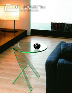 Popular Clear Glass End Table Qualified by ISO 9001 pictures & photos
