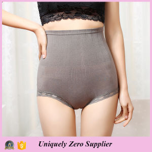 2016 Hot Selling Women High Waist Butt Lift Pant with Lace Hem Underwear pictures & photos