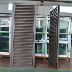 High Quality Powder Coated Aluminum Profile Fixed Shutter Casement Door K06038 pictures & photos