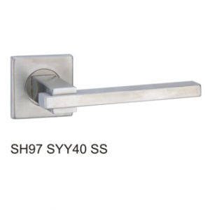 Stainless Steel Hollow Tube Lever Door Handle (SH97SYY40 SS) pictures & photos