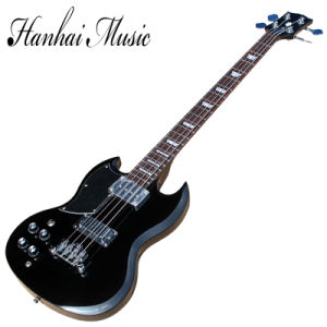Hanhai Music/Left Handed Black Sg Style 4 Strings Electric Bass Guitar (GB-3) pictures & photos