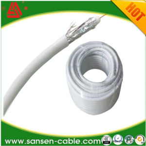 Braiding Coverage RG6 Coaxial Cable for Indoor CATV / CCTV RG6 Coaxial Cable pictures & photos