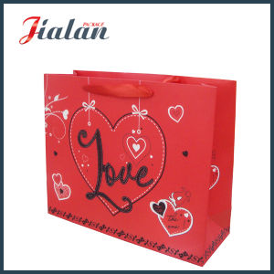 """Red with Glitter """"Love"""" Valentine′s Day Shopping Gift Paper Bag pictures & photos"""