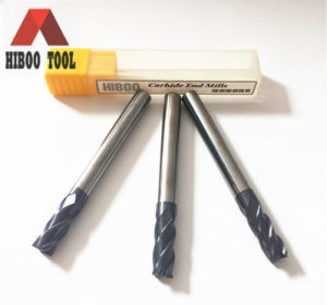 Hiboo 4flutes Square Z4 Carbide Tools for Metal pictures & photos