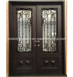 Factory Direct Straight Top Wrought Iron Door (UID-D010) pictures & photos