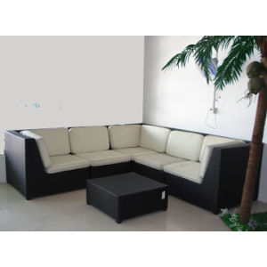 High Back UV-Resistant Rattan Sofa Set (WS-06018) pictures & photos