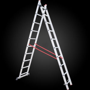 2 Section Multifuction Extension Aluminum Step Ladder pictures & photos