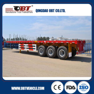 China Heavy Duty 40FT Container Flatbed Trailer pictures & photos