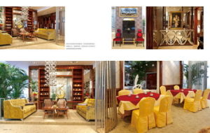 Wooden Lobby Furniture Used in Hotel (MH-086)